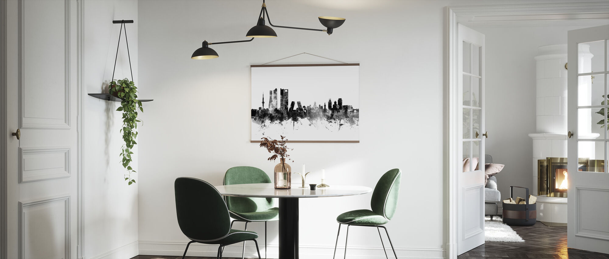 Madrid Skyline Black - Poster - Kitchen