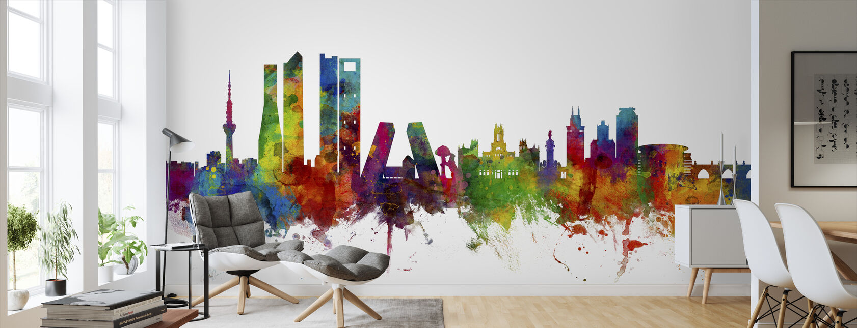 Skyline de Madrid - Papel pintado - Salón