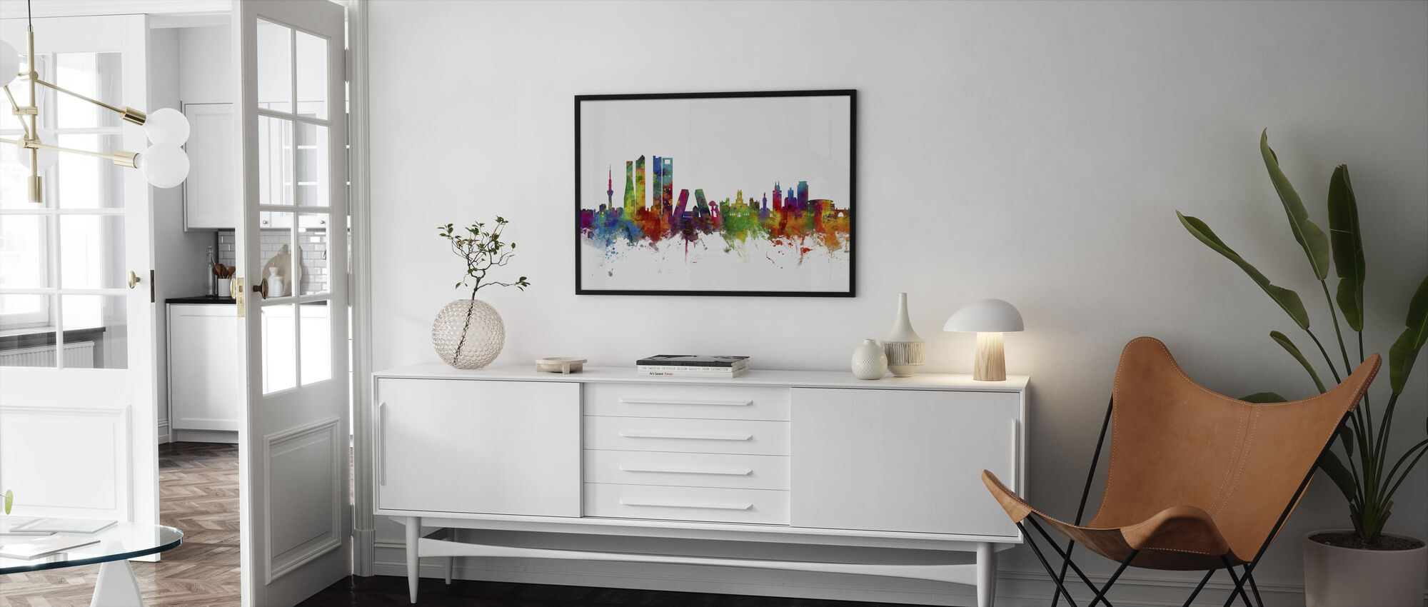 Madrid Skyline - Framed print - Living Room