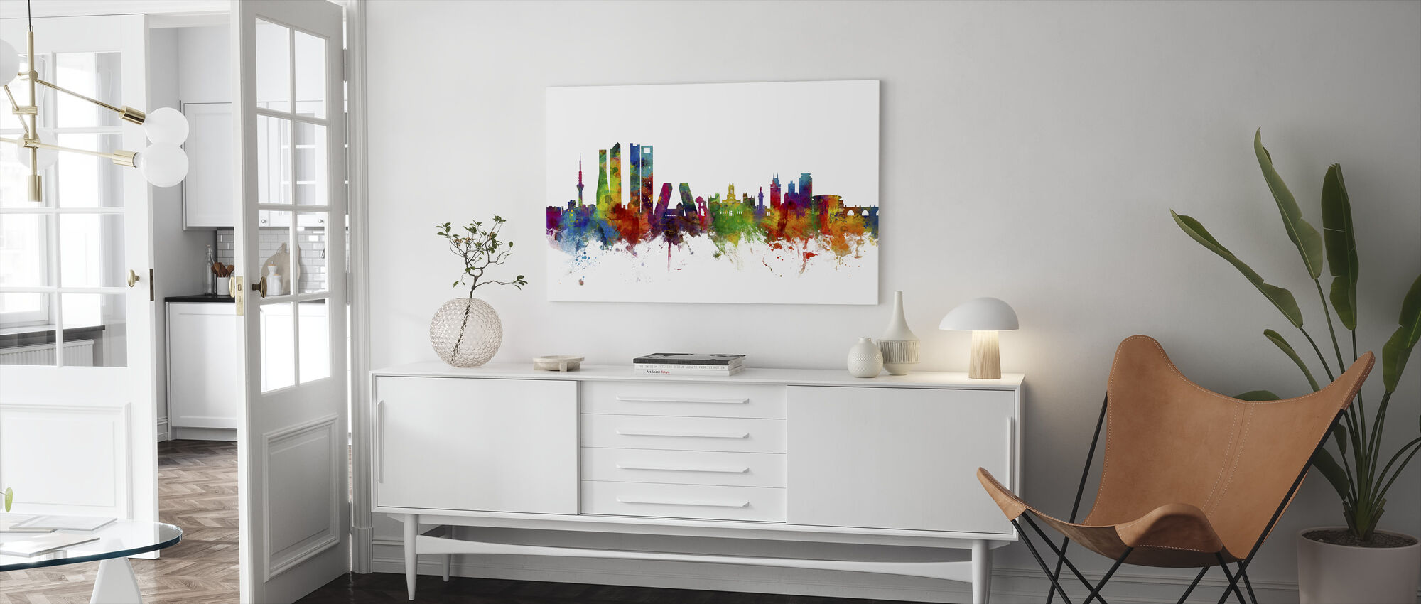 Madrid Skyline - Canvas print - Living Room