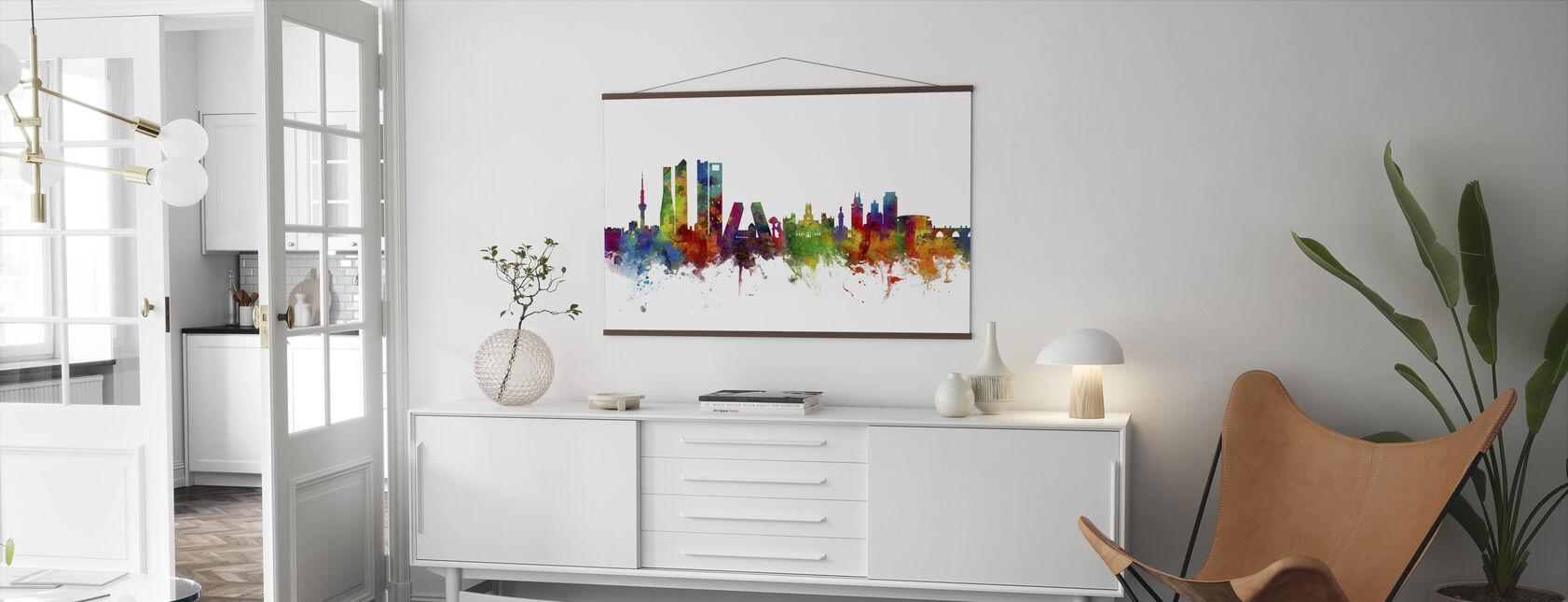 Skyline von Madrid - Poster - Wohnzimmer