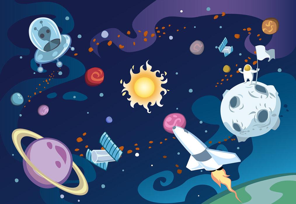 Cartoon Galaxy Affordable Wall Mural Photowall