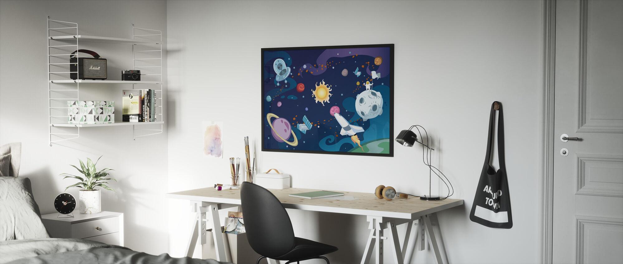 Sarjakuva Galaxy - Kehystetty kuva - Lastenhuone