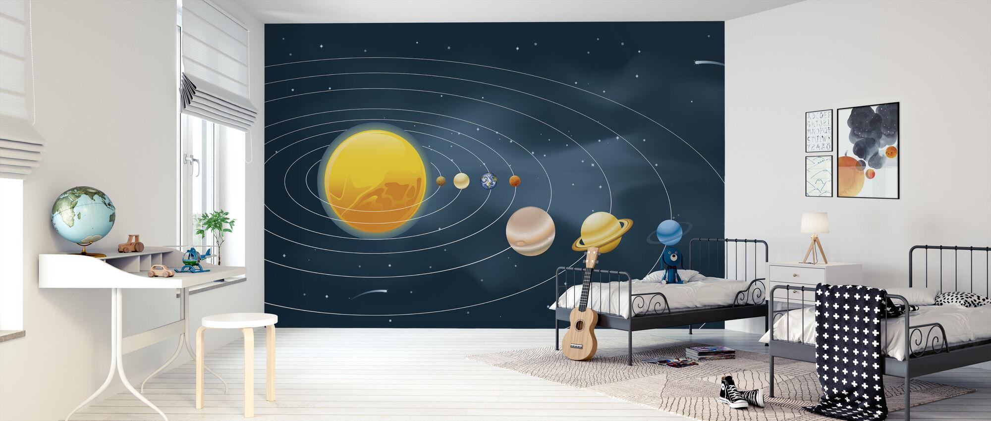 Jordar solsystem - Tapet - Barnrum