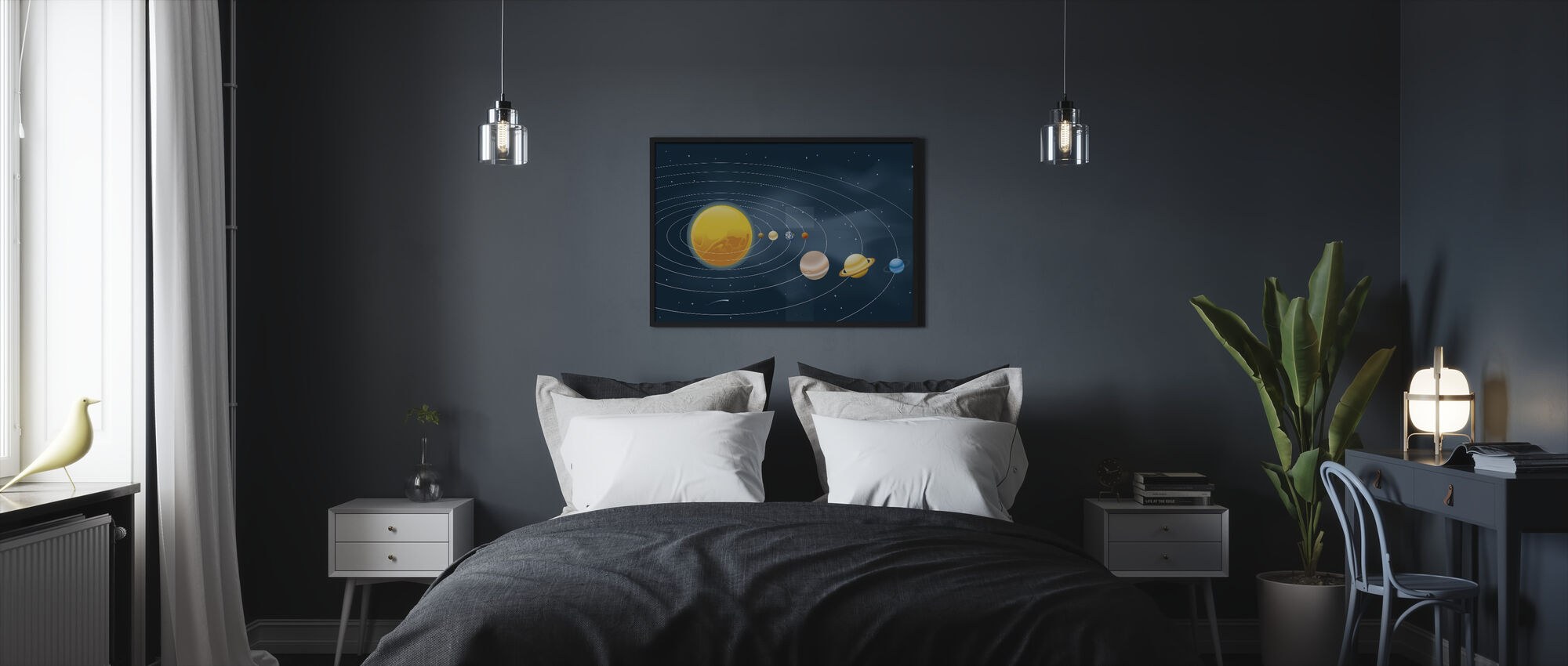 Earths Solar System - Framed print - Bedroom