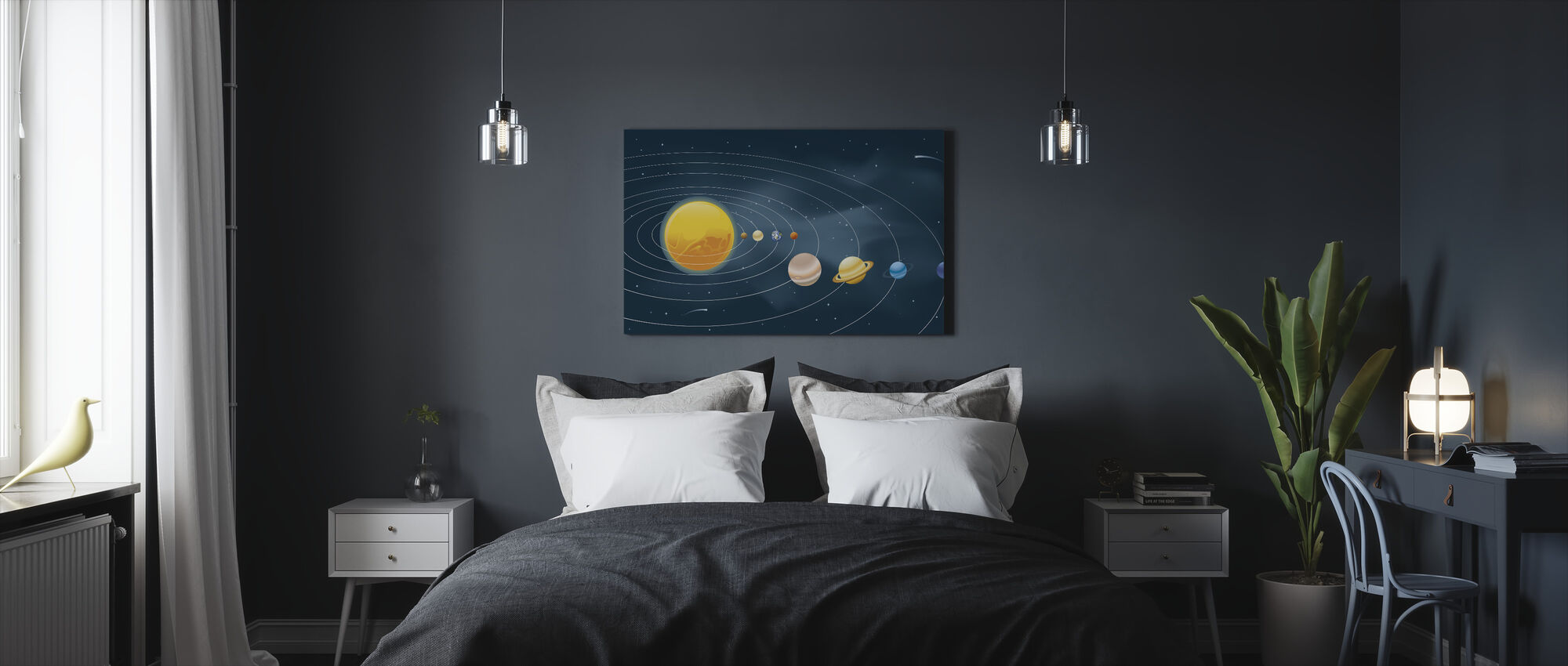 Earths Solar System - Canvas print - Bedroom
