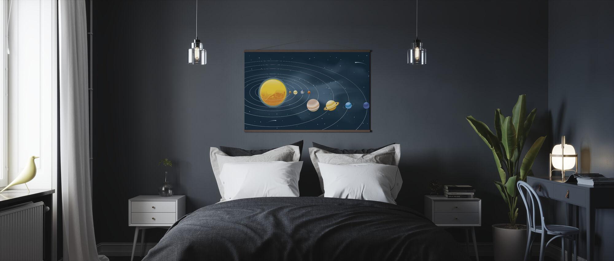 Jordarter Solsystem - Plakat - Soveværelse