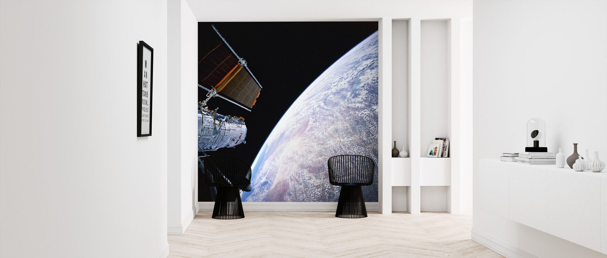 Hubble Space teleskop - Tapet - Entré