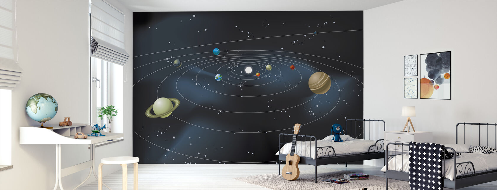 Planetary System - Wallpaper - Kids Room