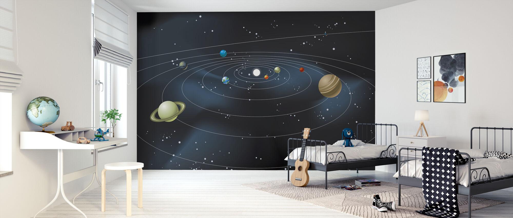 Système planétaire - Papier peint - Chambre des enfants