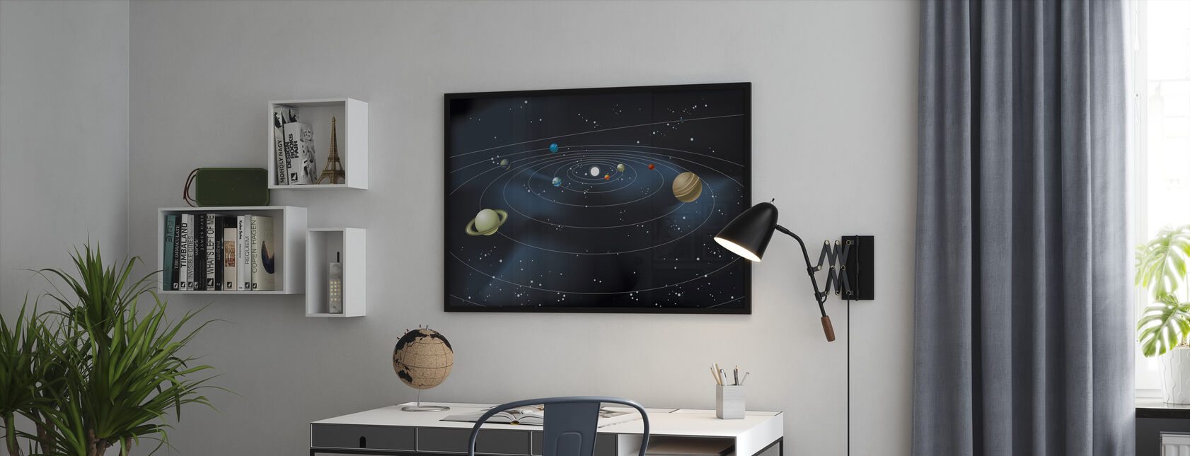 Planetsystem - Inramad tavla - Kontor