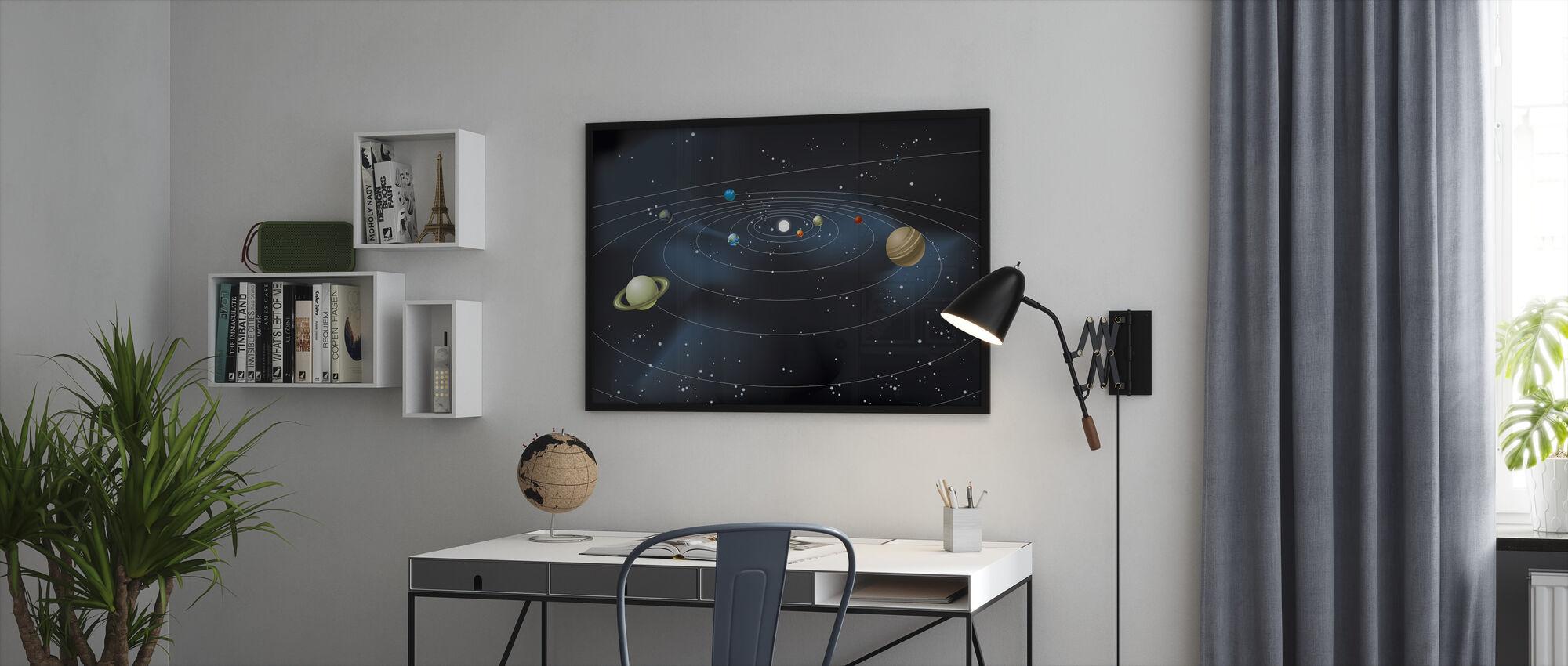 Planetary System - Innrammet bilde - Kontor