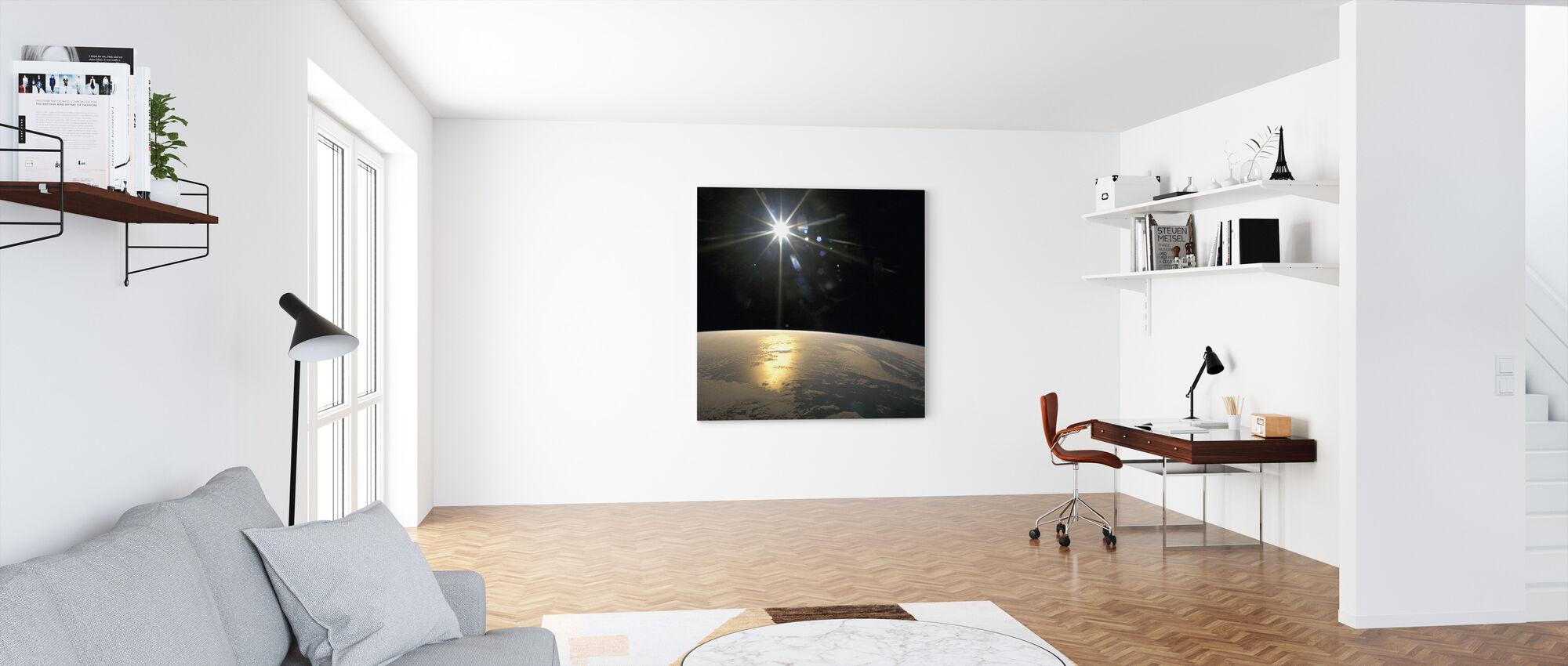 Sunrays Falling on Earth - Canvas print - Office