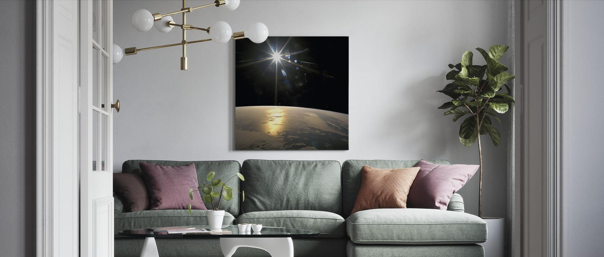 Sunrays Falling on Earth - Canvas print - Living Room