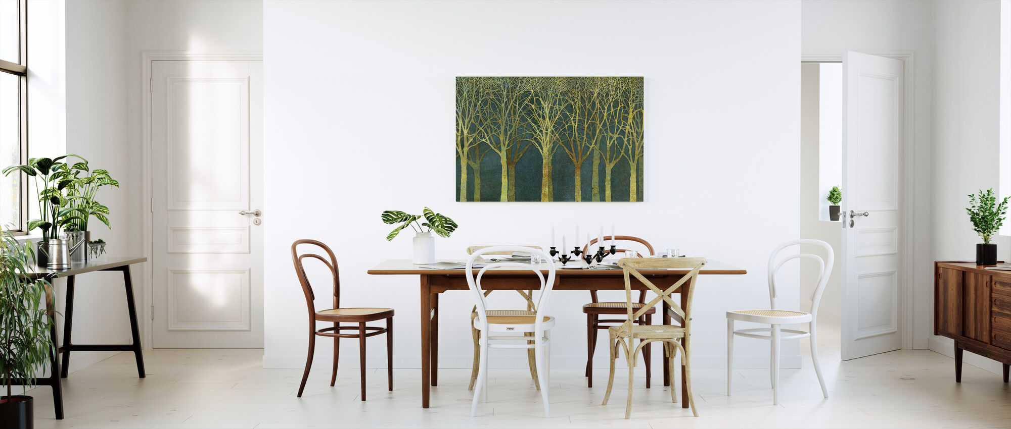 Birch Grove Golden Light - Canvas print - Kitchen