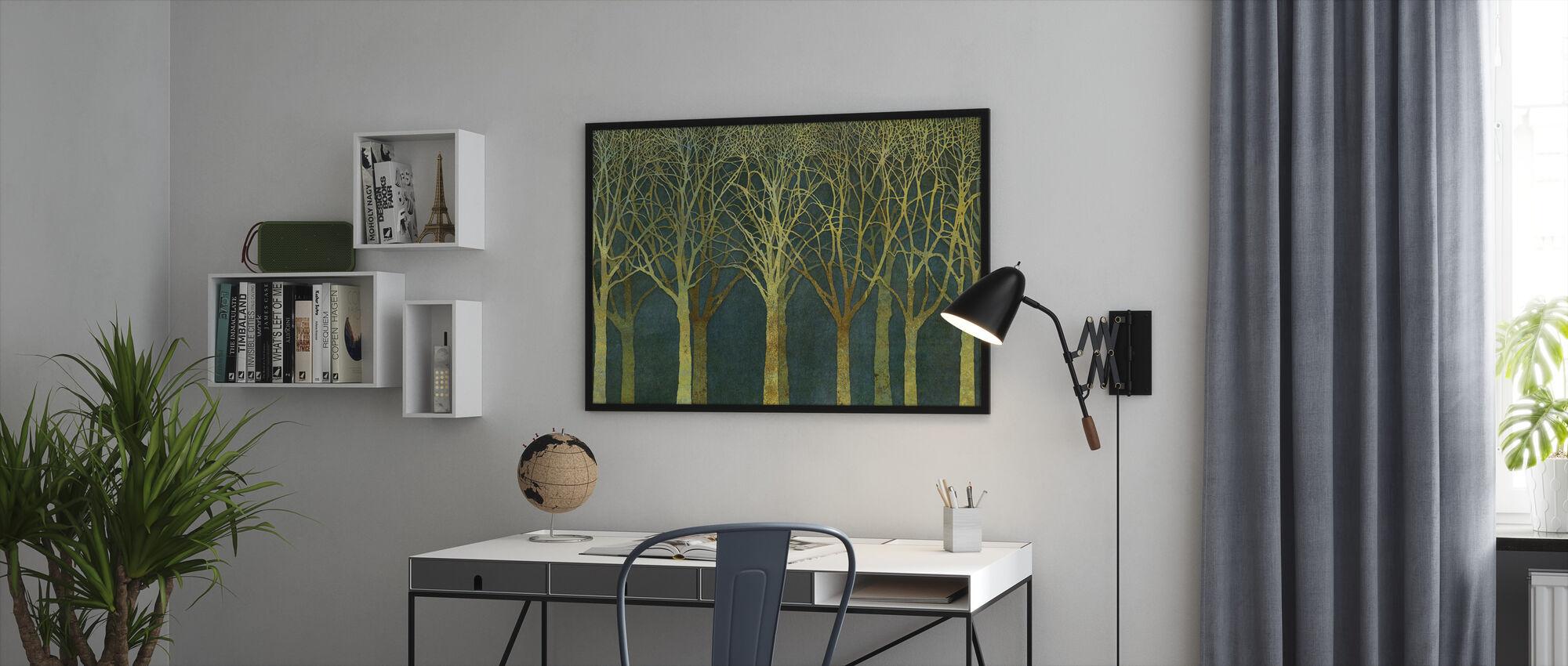 Birch Grove Golden Light - Framed print - Office