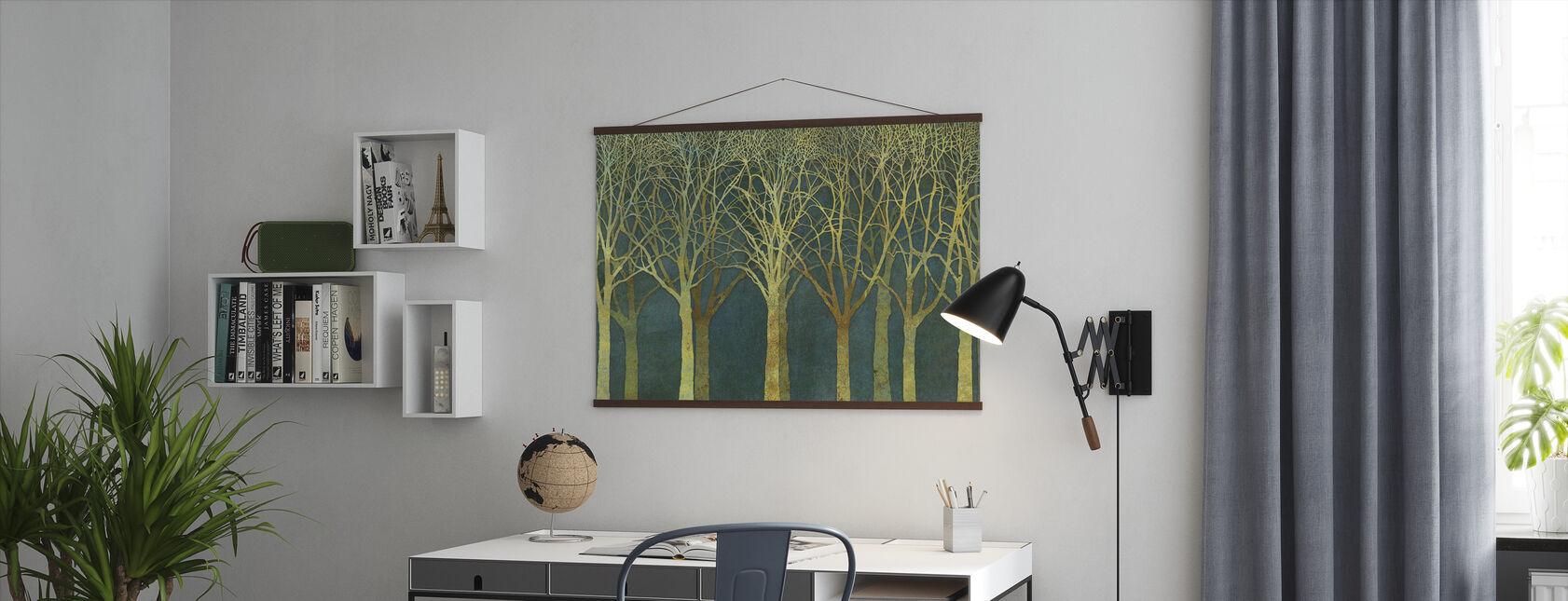 Birch Grove Golden Light - Poster - Office