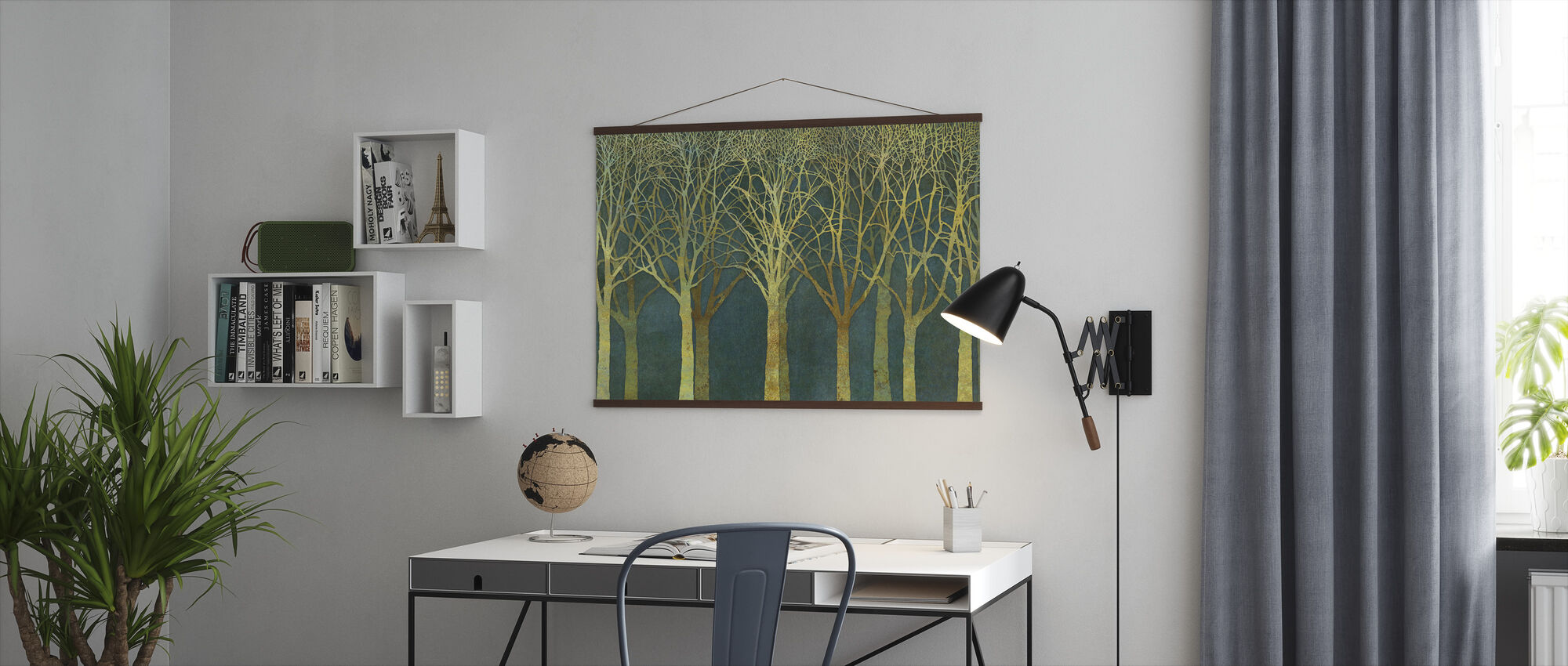 Birch Grove Golden Light - Poster - Office