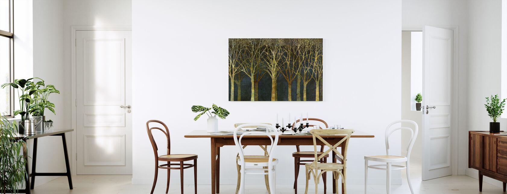 Birch Grove Moonlight - Canvas print - Kitchen