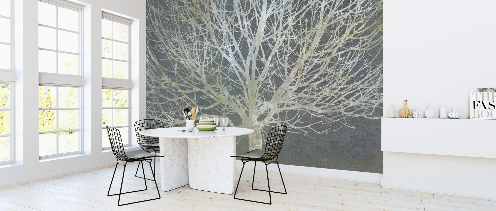 Silver Trees - Wallpaper - Kitchen