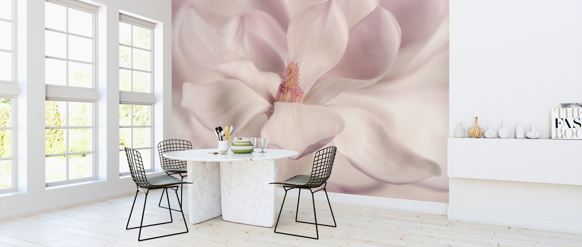 White Magnolia - Wallpaper - Kitchen