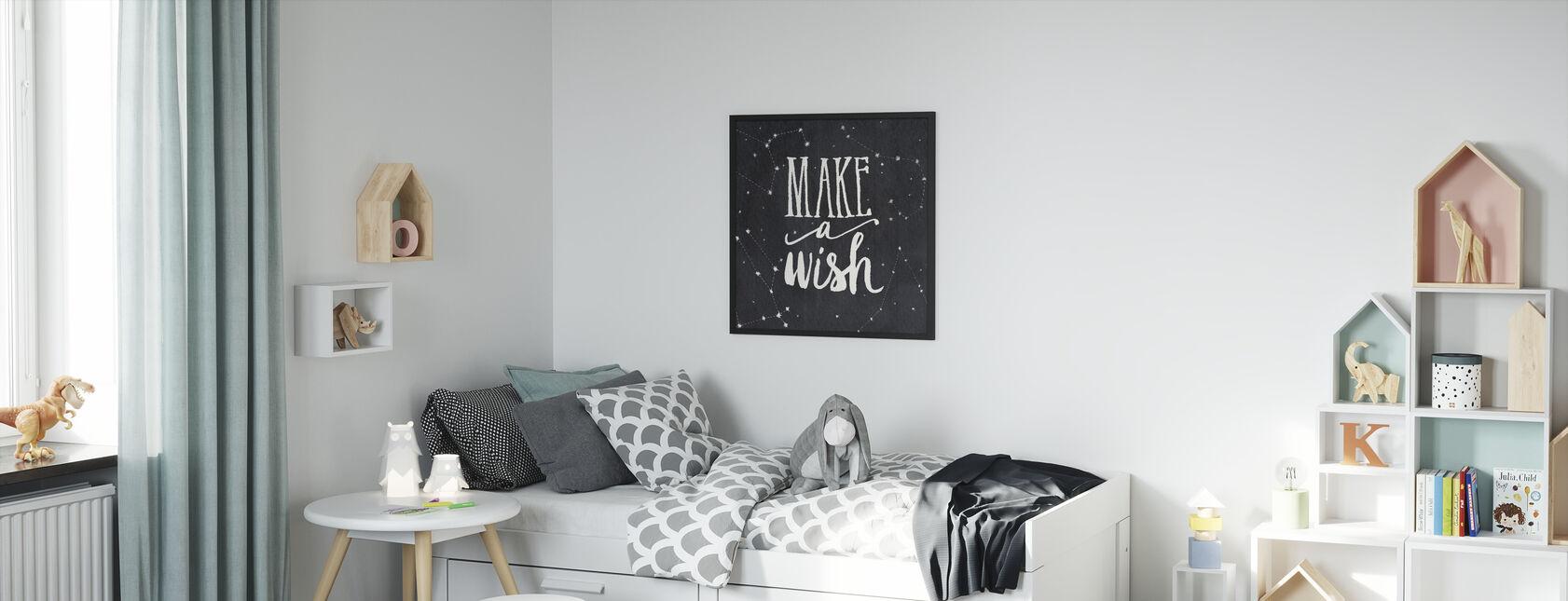 Make a Wish - Framed print - Kids Room