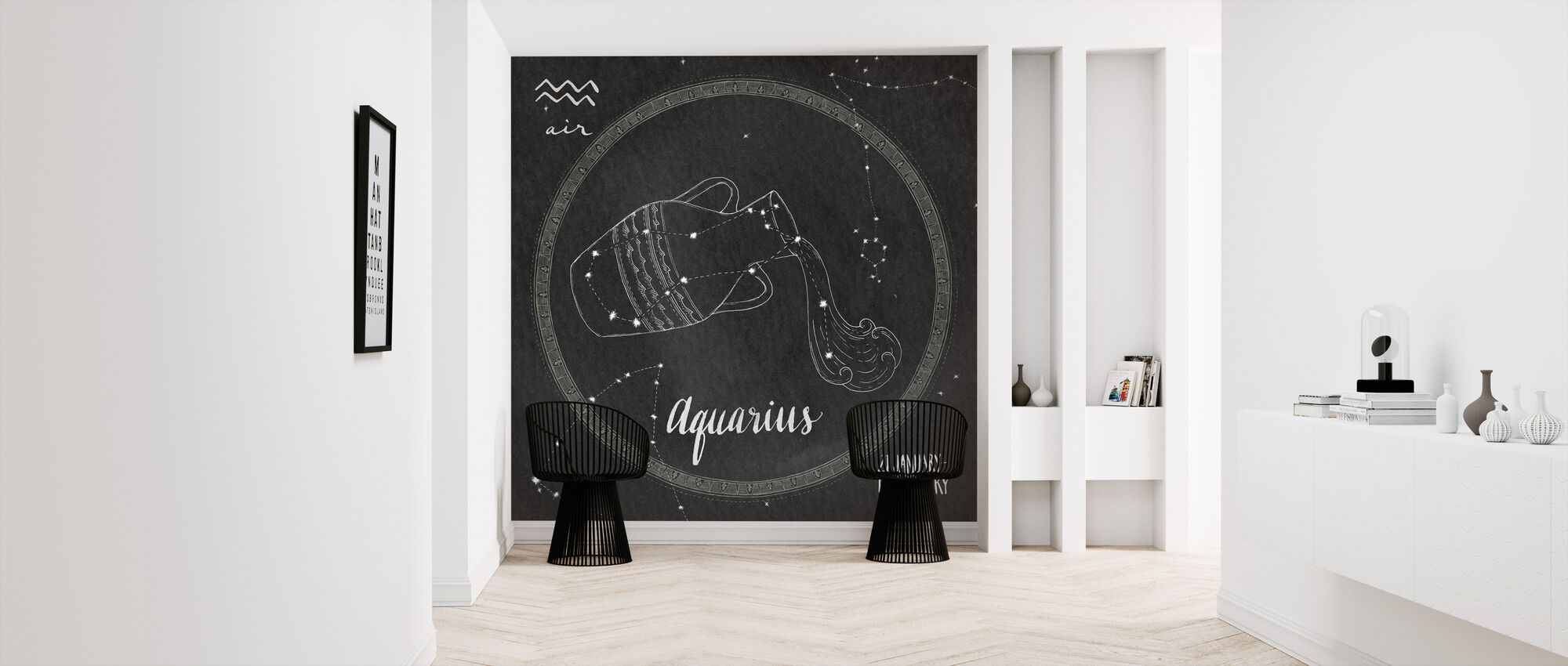 Night Sky Aquarius - Wallpaper - Hallway