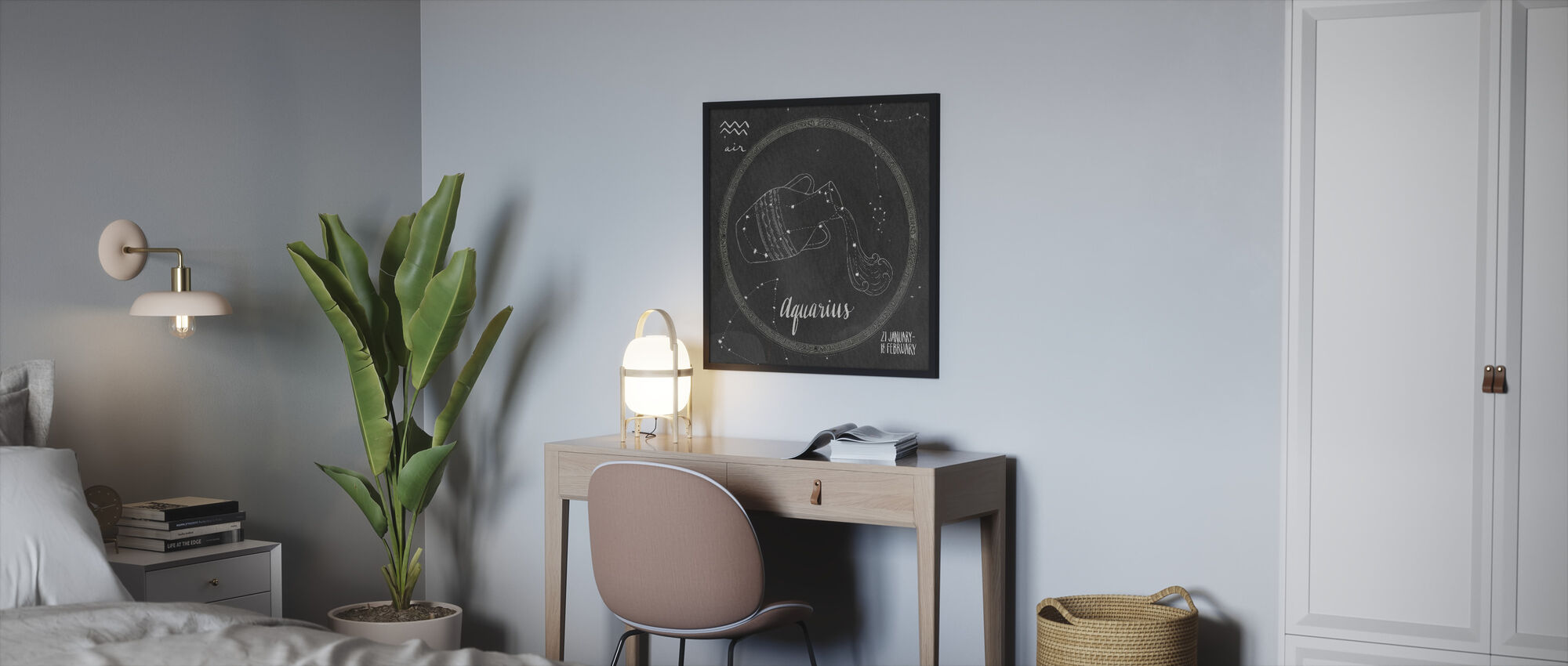 Night Sky Aquarius - Framed print - Bedroom