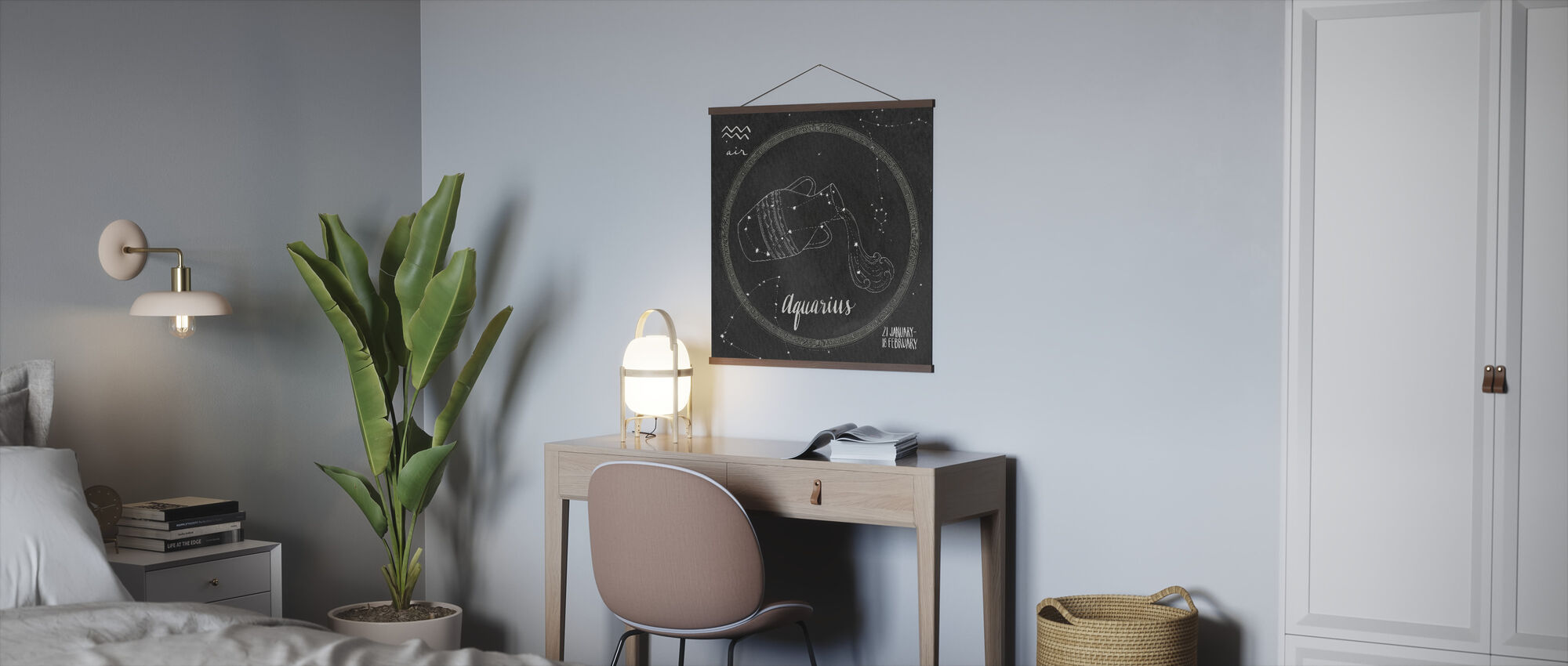 Night Sky Aquarius - Poster - Office