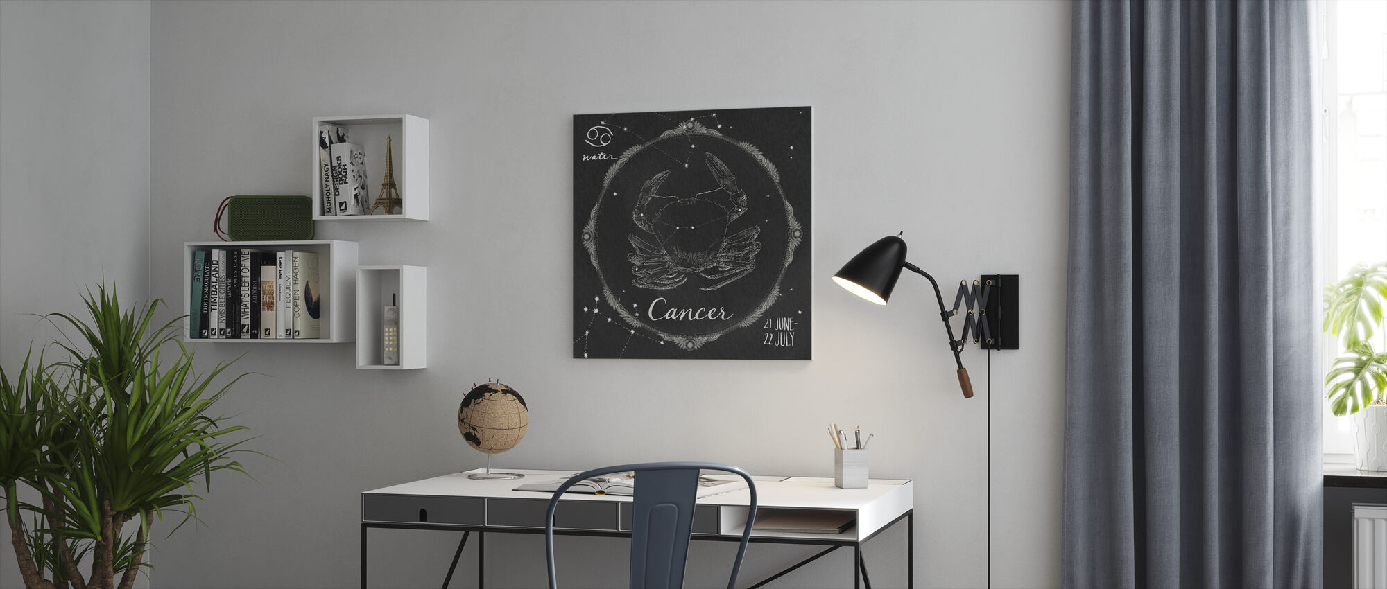 Night Sky Cancer - Canvas print - Office