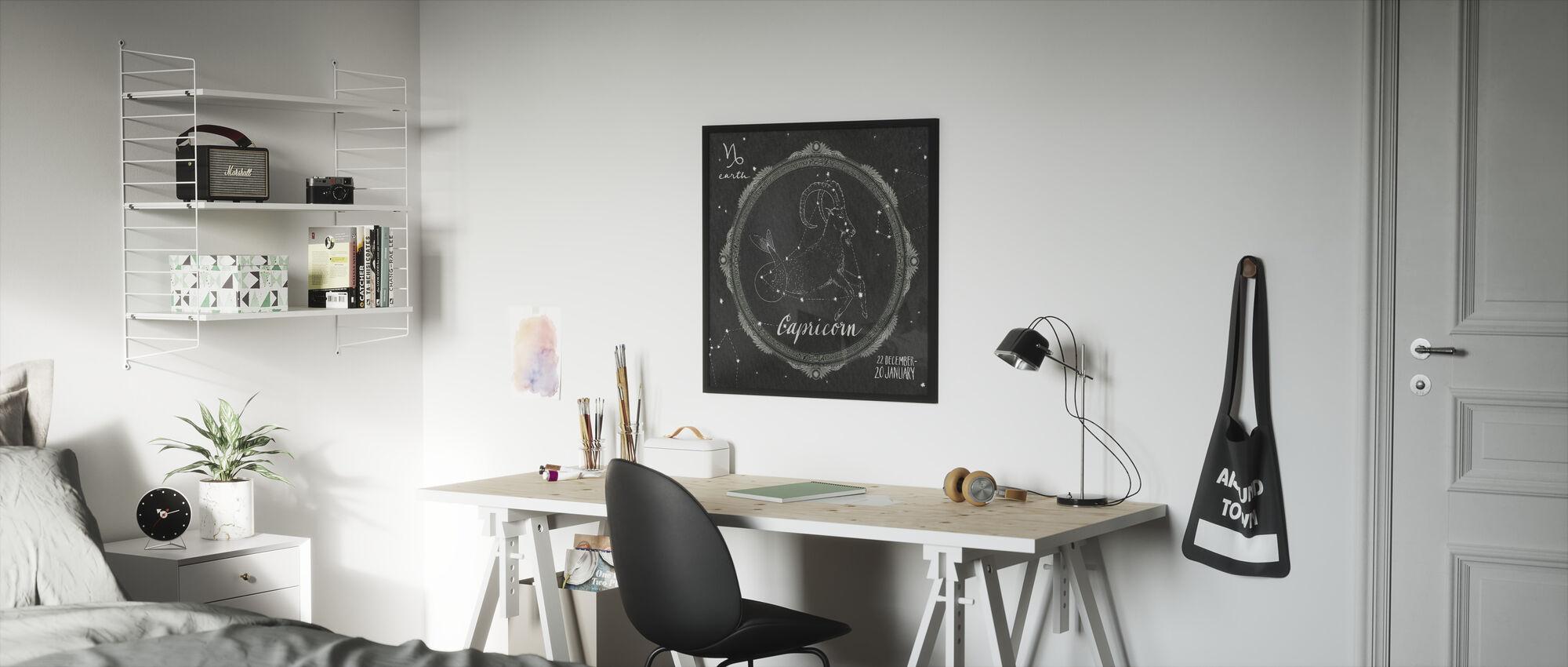 Night Sky Steenbok - Ingelijste print - Kinderkamer