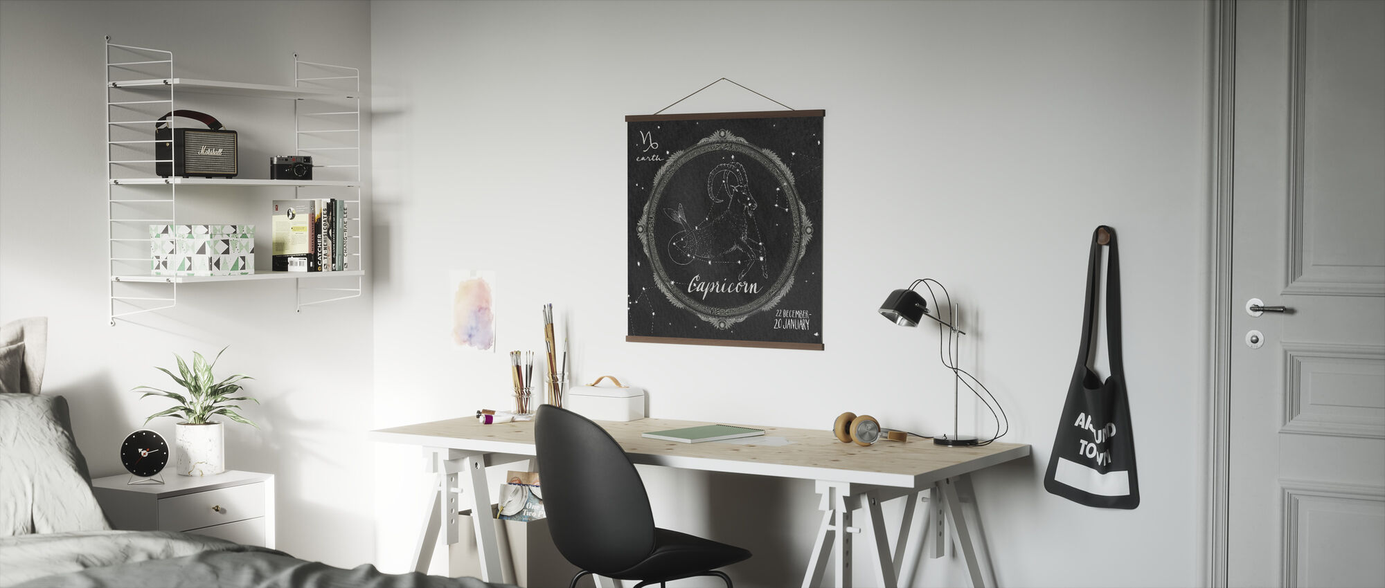 Night Sky Capricorn - Poster - Office