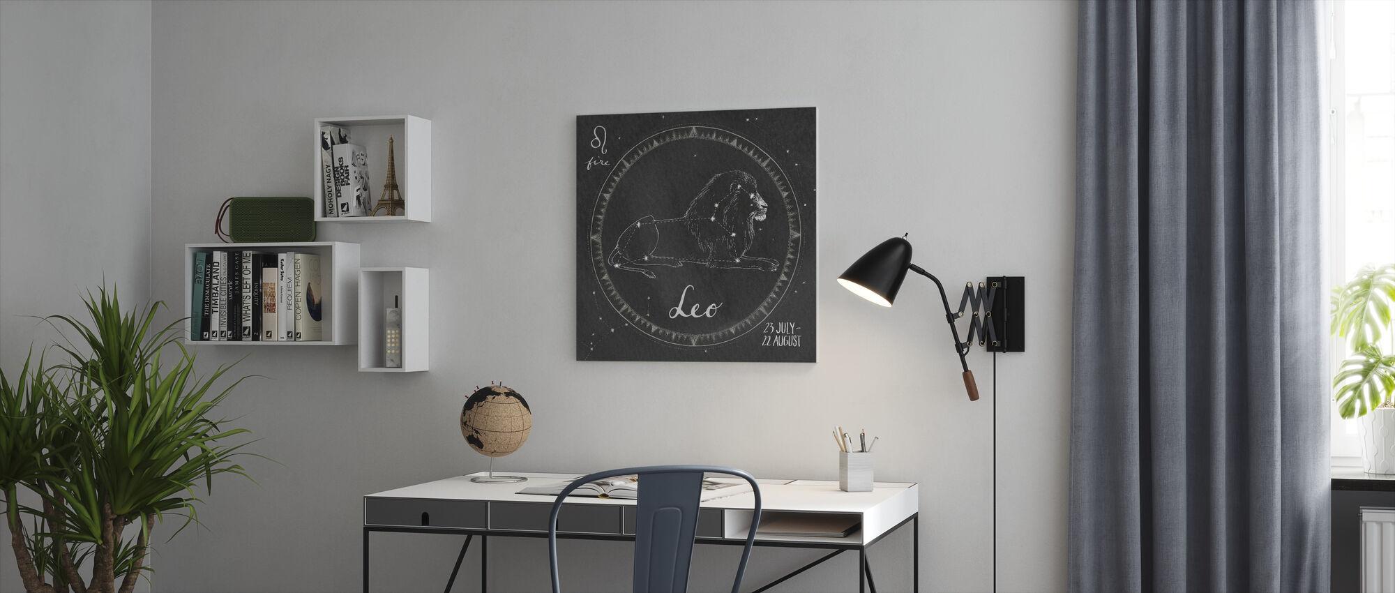 Night Sky Leo - Canvas print - Office