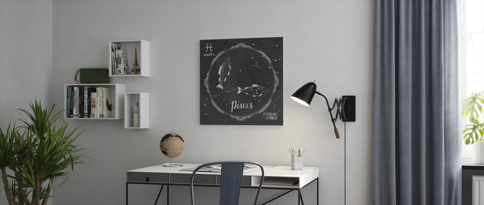 Night Sky Pisces - Canvas print - Office