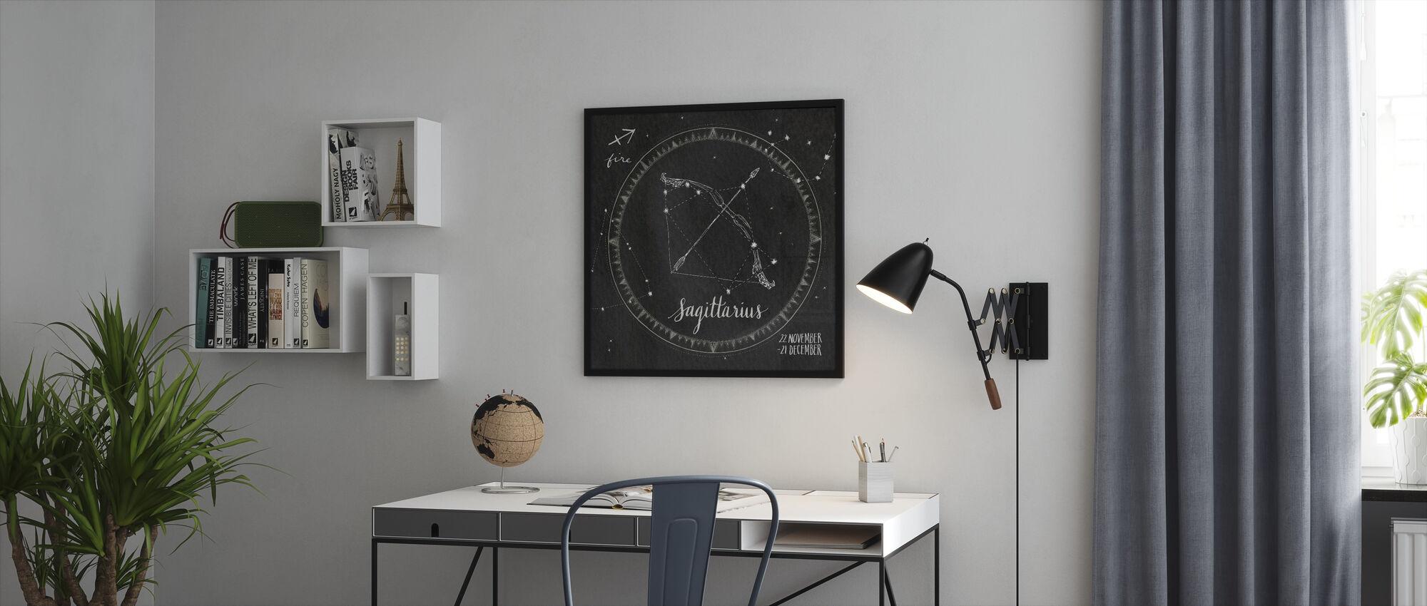Nattehimmelen Skytten - Innrammet bilde - Kontor