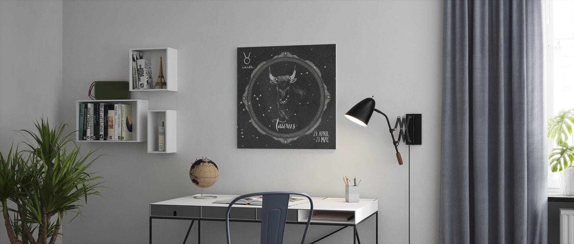 Night Sky Taurus - Canvas print - Office