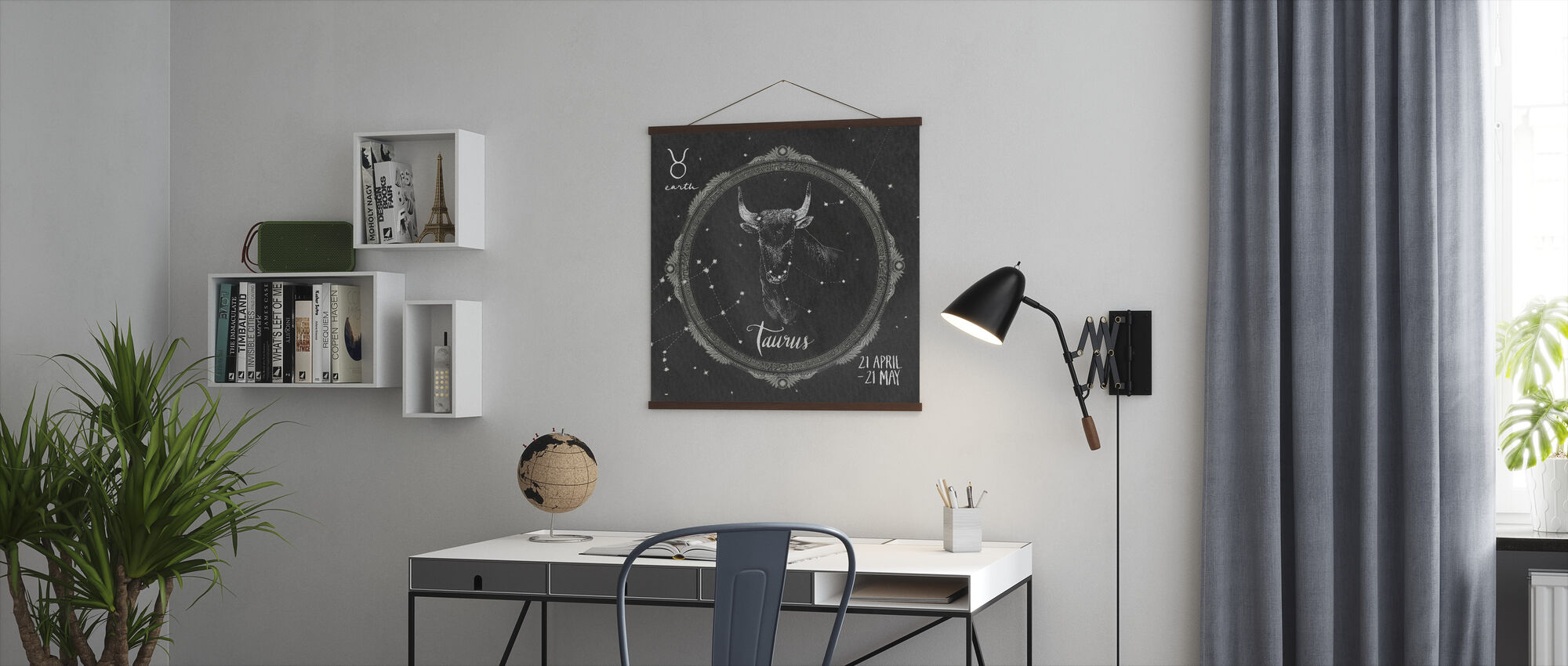 Night Sky Taurus - Poster - Office