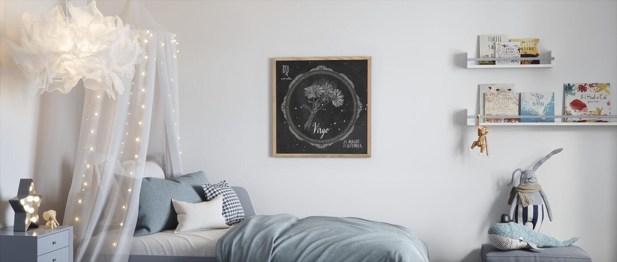 Night Sky Virgo - Framed print - Kids Room