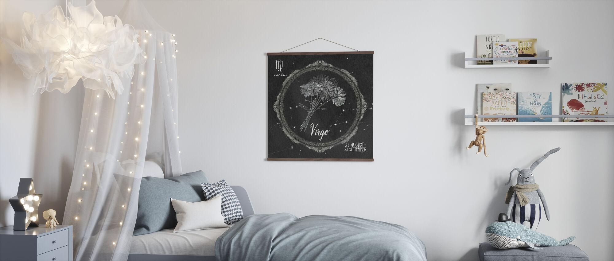 Night Sky Virgo - Poster - Kids Room