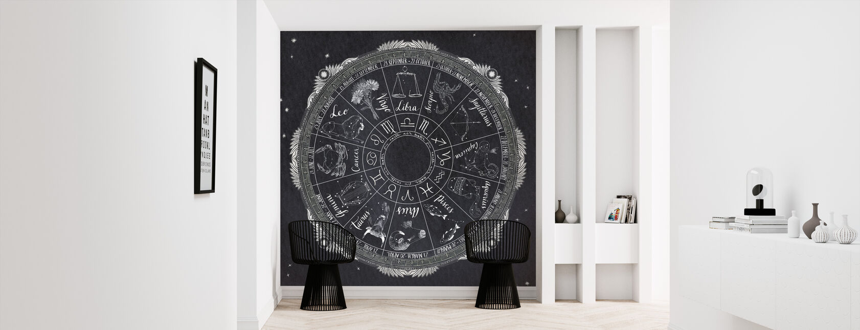 Natt himmel Zodiac - Tapet - Hall