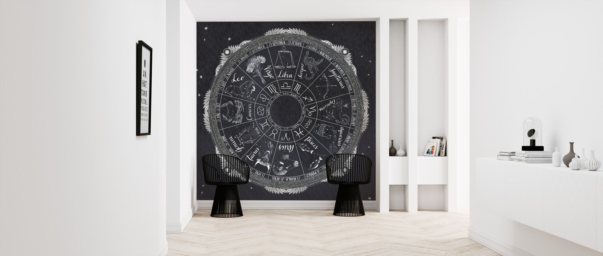Night Sky Zodiac - Wallpaper - Hallway