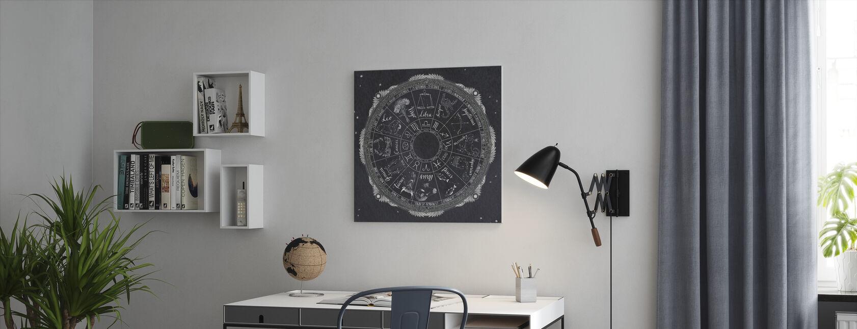 Night Sky Zodiac - Lerretsbilde - Kontor