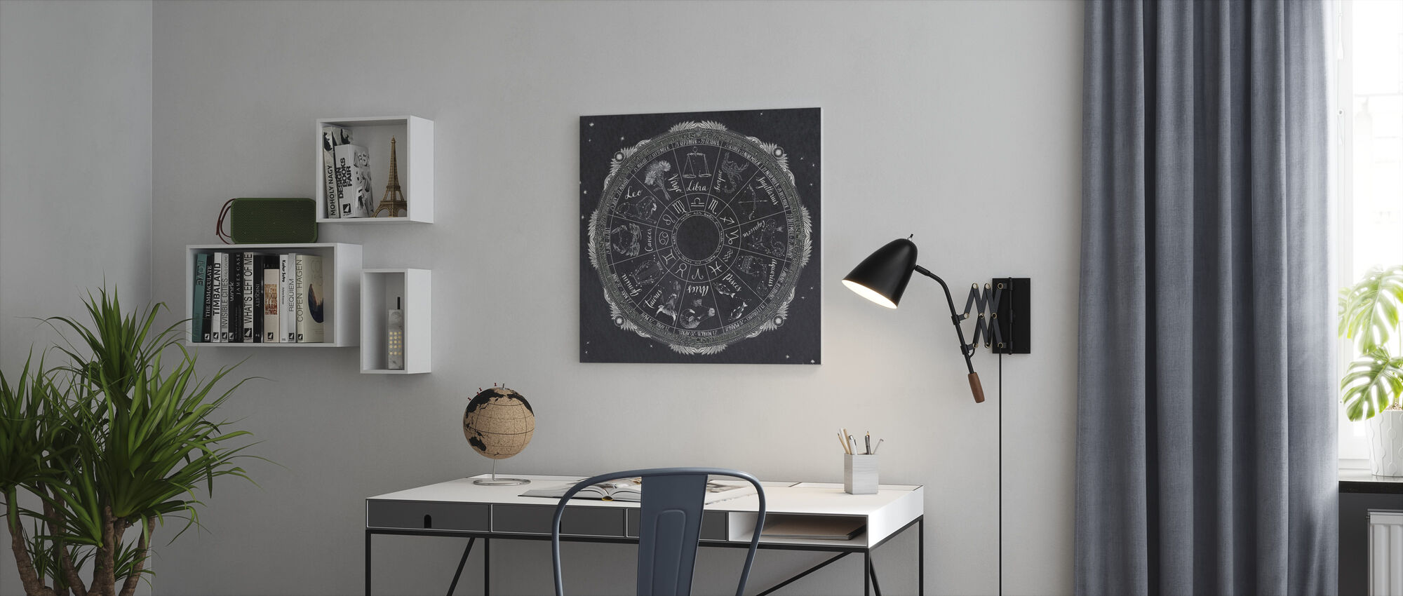 Night Sky Zodiac - Canvas print - Office