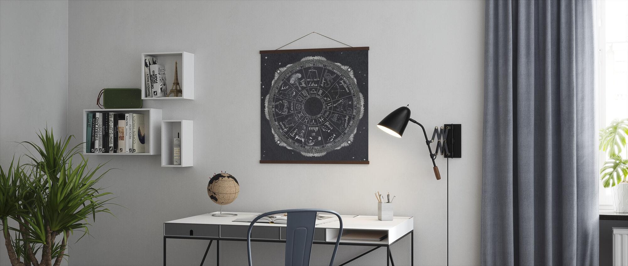Natt himmel Zodiac - Poster - Kontor