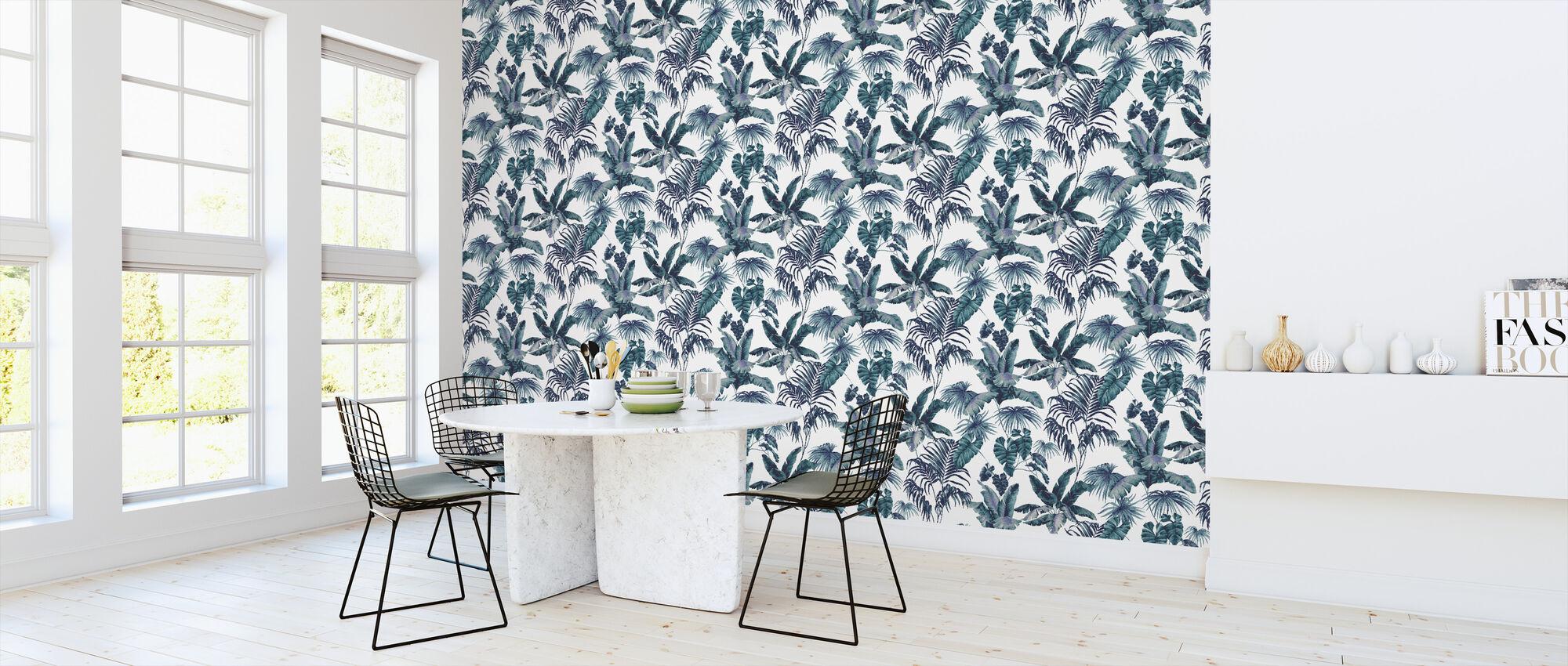 Tropic Toile Marine - Wallpaper - Kitchen