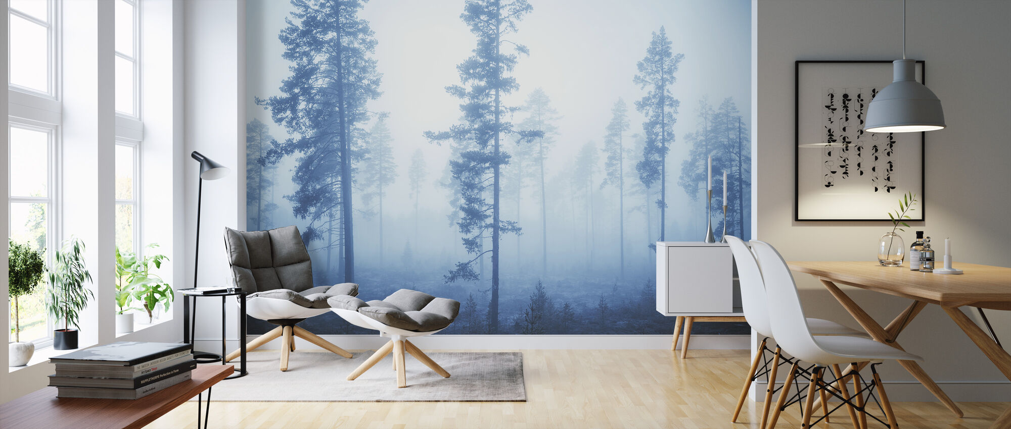 Blue Breeze - Wallpaper - Living Room