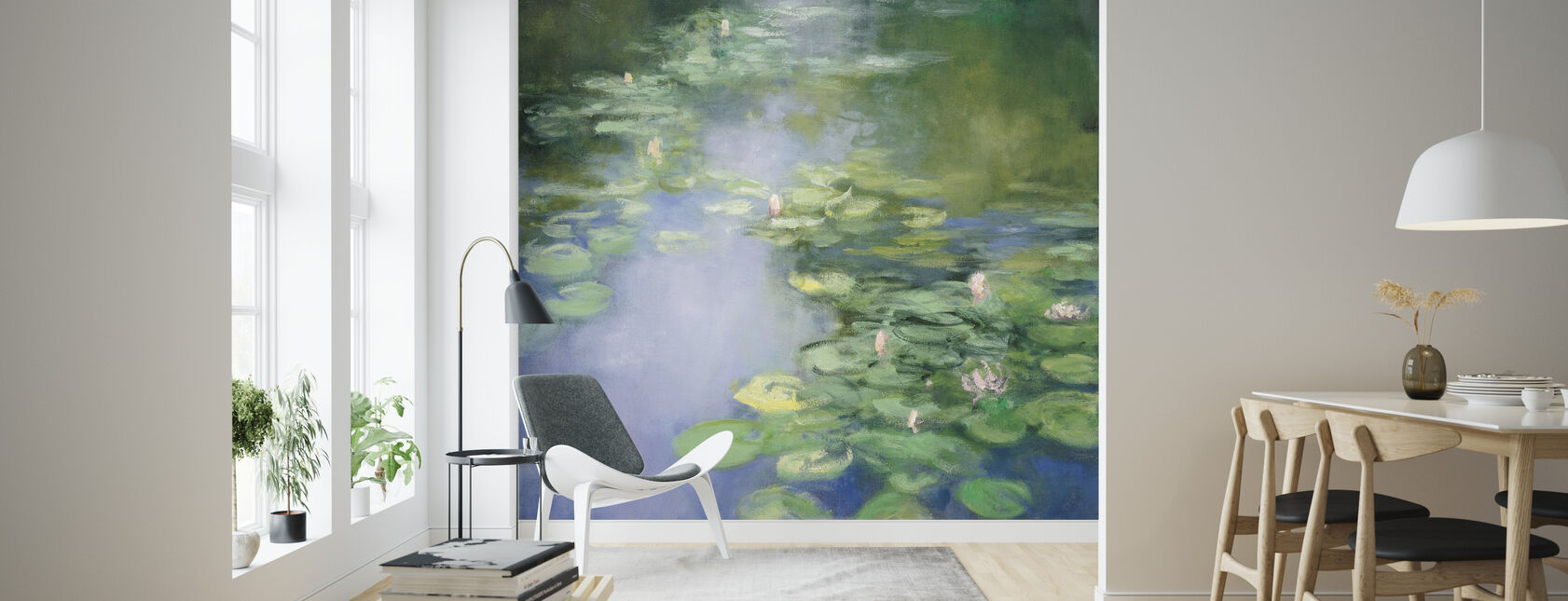 Blue Lily II - Wallpaper - Living Room