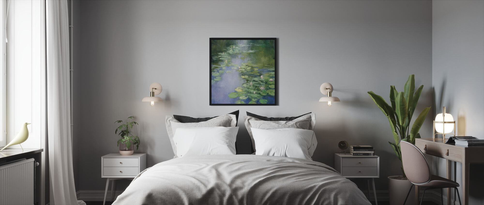 Blue Lily II - Framed print - Bedroom
