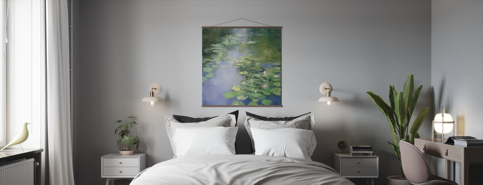 Blue Lily II - Poster - Bedroom