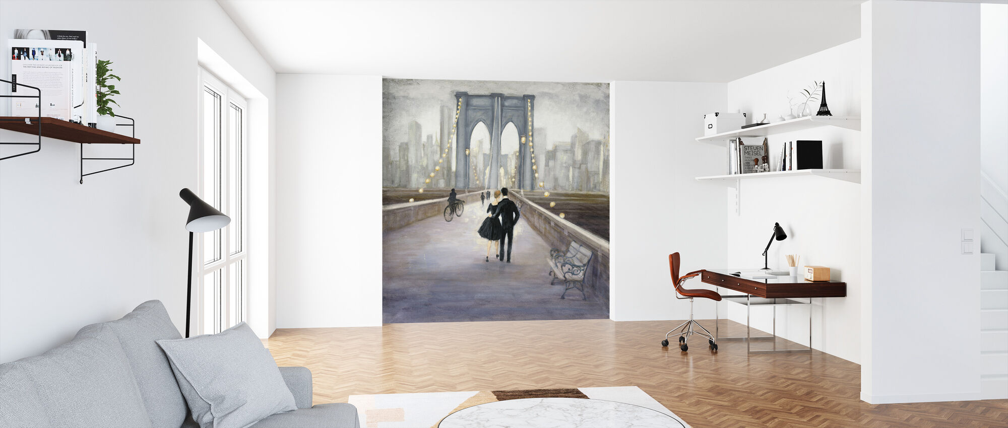 Bridge to New York - Wallpaper - Office